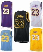 Wholesale mens vests for sale - Cheap New 2018 LeBron James Jersey #23 Mens Stitched GOLD Purple White Black T-shirt vest James Jerseys Big And Tall SIZE XS-6XL For sale