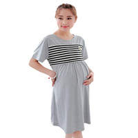 Wholesale plus size maternity clothes online - Large Plus Size Pijama Maternity Nightdresses lactation Dress For Nursing Clothes Nightwear Breastfeeding nightgown For Pregnant