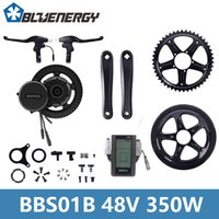 Wholesale electric bicycle motor controller - Bafang 48V 350W BBS01 BB68 mm Mid Drive Motor Ebike Kit LCD C965 Display Electric Bicycle Controller Kits