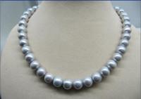 ingrosso l'acquisto di perle naturali-migliore acquisto Perle Gioiello Bella 12-14mm naturale perle di mare grigio grigio collana 18