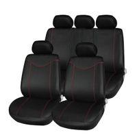 ingrosso coperture rosse nere di cuscino-T21638 11 pezzi Auto copertura schienale basso Set Anti-Polvere Auto Cuscino Protector universale adatto rosso con accessori interni neri