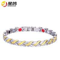 Wholesale gold bracelets for health - Unisex Health Energy Magnetic Bracelet for women Men Fashion Copper Jewelry Chain Link Bracelet Bangle drop shipping wholesale