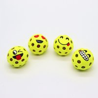 Wholesale high pressure ball resale online - Creative Emoji Mesh Squishy Ball Round Reduce Pressure Vent Balls Soft Smile Face Squeeze Toy High Quality xt BB