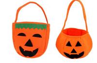 lustige handtaschen großhandel-Süßes sonst gibt's Saures Hallowen Lächeln-Kürbis-Taschen-Kindersüßigkeits-Tasche Lustige nette Süßigkeits-Handtaschen-Haushalts-Organisatoren G279