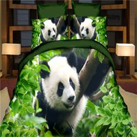 Wholesale tiger print bedding sets resale online - New D Reactive Print Bedding Sets Animal Pattern Bedclothes Wolf Leopard Tiger Lion Panda Sheets Quilt Bedclothes