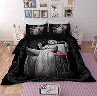 Wholesale marilyn monroe bedding resale online - Printed Bedding Set Marilyn Monroe Duvet Cover Set D Reactive Bed Spread Set Full Size Home Textiles New