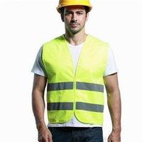 ropa de construcción reflectante al por mayor-Ropa de seguridad reflectante Alta visibilidad Seguridad laboral Chaleco de construcción Advertencia Tráfico reflectante Trabajo chaleco Verde RS-04