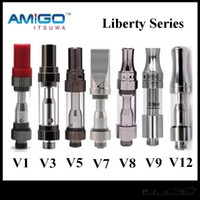 Wholesale New Batteries - New iTsuwa AMIGO Liberty Tank CE3 Cartridges V1 V3 V5 V7 V8 V9 V12 Vaporizer For Preheat Battery 100% Original