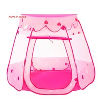 ingrosso ragazzi di tenda rosa-Dalosdream Princess Tent Castle Gioca a Large Pink Playhouse Children Teepee Tent For Kids