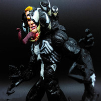 Wholesale cool spider - Hot NEW Marvel SELECT VENOM 20 CM Spider-Man Villian Comic Cool PVC Toy Action Figure Toys Kids Gift DDA295