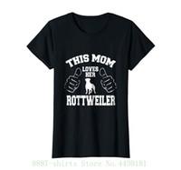 lustige hundet-shirts großhandel-Frauen T-Shirt Womens diese Mutter liebt ihre Rottweiler Funny Dog Lover T-Shirt Mode Marke Kleidung süße T-Shirts