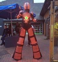 traje de traje de robô venda por atacado-RGB mudança de cor LED Robot clubes partido do traje Noite LED roupas / Luz ternos / ternos robô LED / Kryoman robot robot / david