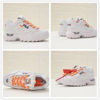 Wholesale cool running shoes - 2018 OFF Fila DisruptorII Casual shoes For Men Women Running White Cool Luxury Outdoor Sports Sneakers Eur
