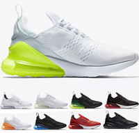 Wholesale womens training - 2018 new Mens Womens Triple White Black 270S AH8050 Trainer Running Shoes Training 270C Sports AIR Sneakers Size 36-45