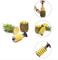 Wholesale slicer easy cutter resale online - Pineapple Corer Slicer Cutter Easy Kitchen Gadget Stainless Steel Fruit Peeler factory direct Hot Sale Fruit Pineapple Corer Slicers BBA307
