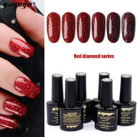 Wholesale Yayoge Gel Nail Polish Red Glitter ml oz Colors Diamond Shining Red Gel Varnish LED UV Gel Nail Polish For Nail Art