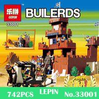 Wholesale Cowboy Toys - Lepin 742Pcs 33001 Genuine Building Series The Idian Cowboy`s Castle Set Educational Building Blocks Bricks Toys Gift Model 6769