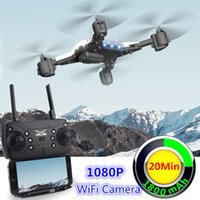18 hd großhandel-Neue RC Drohne mit Kamera 1080P Selfie Drohnen mit Kamera HD Faltbarer Quadrocopter Quadrocopter Fly 18 Mins VS E58