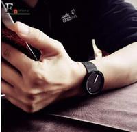 relógios de pulso mais legais venda por atacado-presente Enmex legal minimalista estilo relógio de pulso de aço inoxidável design criativo Dot and Line simples moda elegante relógio de quartzo