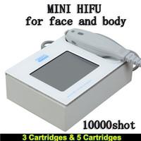 ultrasonlu yüz kırışıklıkları toptan satış-Tıbbi Sınıf HIFU Yüksek Yoğunluklu Odaklanmış Ultrason HIFU yüz yüz için 3 Kartuşları Ile en iyi kaldırma makinesi Kırışıklık Kaldırma