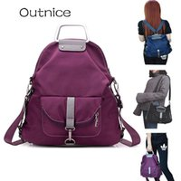 Wholesale travel backpacks online - OUTNICE Female Bag Multifunctional Backpacks High Quality Oxford Travel Portable Crossbody School Bag Back Pack sac a dos femme