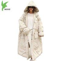 abajo abrigos con capucha mujer tallas al por mayor-Chaquetas abrigos de algodón de gran tamaño para mujer abrigo de algodón abrigos con capucha abrigos gruesos cálidos chaquetas sueltas busto tamaño 160 cm OKXGNZ1189