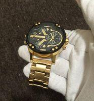 mm vestuário venda por atacado-Alta qualidade cosc Francês famosa marca de Luxo dos homens INVICTA estilo modelo de relógio de quartzo dos homens roupas relógio de couro de ouro Dois trabalho da máquina