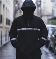 Wholesale taped jacket - 18ss Europe America Box logo Reflective Taping Jacket Street Skateboard Coat Thin Windproof Jacket Pizex