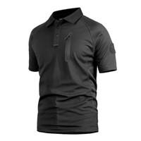 camisas tácticas de secado rápido al por mayor-Camiseta de camuflaje Ice Rock Tactics Camiseta de secado rápido Camiseta corta táctica rápida
