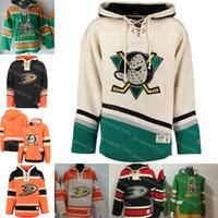 eski zaman hokeyi hoodies sweatshirt toptan satış-Erkek Kış Anaheim Ördekler 15 Ryan Getzlaf 10 Corey Perry 17 Ryan Kesler Özelleştirilmiş Hoodie Eski Zaman Hokeyi Hoodies Personalzied Tişörtü