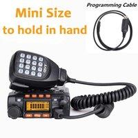 station base großhandel-QYT KT8900 UHF VHF DUAL BAND Zwei-Wege-Radio-Transceiver mit USB-Programmierkabel KT-8900 15 KM Long Range Base Radio Station