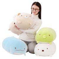 Wholesale japanese cartoon girls - 60cm San-X Corner Bio Pillow Japanese Animation Sumikko Gurashi Plush Toy down cotton Cartoon Kids Girls Valentine Gift