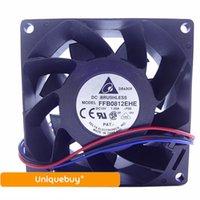 fans del servidor delta al por mayor-Para Delta FFB0812EHE 12V 1.35A Ventilador de enfriamiento Gabinete de servidor de medición de velocidad 3wire 8038