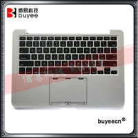 Wholesale macbook pro top case - Used Original 13'' A1502 Palm Rest Late 2013 Mid 2014 For Macbook Pro Retina Top Case US Keyboard with Backlight Replacement