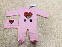 Wholesale cute white rompers resale online - Emmababy New born Baby Boy Girl deer cartoon Christmas Rompers bebe kids cotton cute Clothes Rompersaliva towels Hat