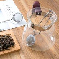 infusor colador bola de té al por mayor-2019 ventas calientes HELLOYOUNG de Infuser del té del acero inoxidable del pote del té Infuser esfera de malla del tamiz del té de la bola de la manija