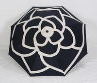 зонтичные сумки оптовых-2018 Новый женский зонтик Роскошный бренд Складной зонт Камелия Цветочный зонтик Зонтик Зонтик с сумкой Цветение камелии