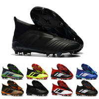 Wholesale high ankle shoes men height for sale - Mens High Ankle Youth Football Boots Predator x Pogba FG Accelerator DB Kids Soccer Shoes PureControl Purechaos Soccer Cleats For Men