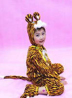 Wholesale tiger boys clothing for sale - Group buy 2017 New style children Cosplay Speckled tiger Animal perform Sequins clothing Boys and girls Dance Conjoined clothes