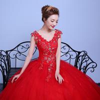 vestidos de boda importados al por mayor-Applicue encaje simple vestido de boda barato con rebordear Vestido De Noiva importados de china