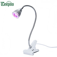 grow lights for greenhouse 2018 - 5W LED Plant Growing Light Led Grow Light Aluminum alloy Desk Clip Lamp with 360Degree Flexible Gooseneck for Indoor Greenhouse