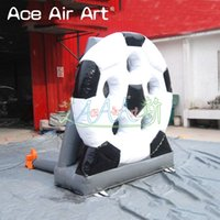 Wholesale ship shooting games for sale - Group buy inflatable football hoop carnival game Inflatable football shoot out with holes for outdoor entertainment game with BALLS