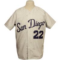 diego grátis venda por atacado-San Diego 1965 Estrada Jersey 100% Bordado Costurado Logos Jérsei De Beisebol Do Vintage Personalizado Qualquer Nome Qualquer Número Frete Grátis