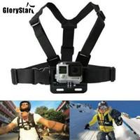 gopro heróis venda por atacado-Chest Strap mount belt para gopro hero 7 6 5 xiaomi yi 4 k action camera chest mount harness para go pro sjcam sj4000 esporte cam correção