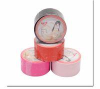 Wholesale pink adult bedding resale online - Adult Games M Electrostatic Tape Bdsm Elastic Bondage Gear Tape Bed Restraints Body Slave Sm Fetish Set Sex Toys For couples