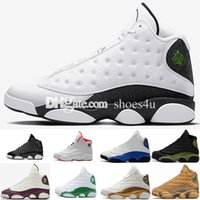 Wholesale Rubber Love - 2018 New 13 Love & Respect Man basketball shoes Black white 3M high quality 13s Mens sport Trainer Sneaker US 8-13