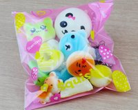 Wholesale toast bread bag - 10pcs Kawaii Squishies Bun Toast Donut Bread for cell phone Bag Charm Straps Wholesale mixed Rare Squishy slow rising lanyard scented