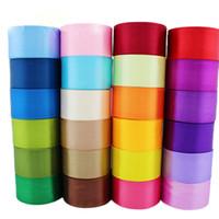 односторонняя атласная лента оптовых-100 ярдов / много (25 ярдов / рулон) 2 '' (50 мм) однолицевые атласные ленты, лямки, рождественские украшения, 196 цветов.