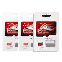 cartão sd de varejo de 128gb venda por atacado-EVO Plus 32 GB 64 GB 128 GB Micro SD Memory Card SD Classe 10 80 MB / s EVO + Cartão UHS-I com Adaptador de Pacote de Varejo