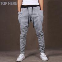 Wholesale unique mens pants - Casual Men Pants Unique Big Pocket Hip Hop Harem Pants Quality Outwear Sweatpants Casual Mens Joggers Top Here Men 'S Trousers